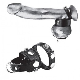 "Утяжка для мошонки и пениса Cock Ring With 1"" Ball Stretcher And Optional Weight Ring"
