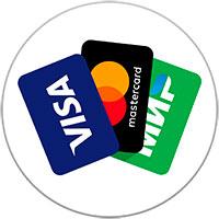 Расплачивайтесь банковской картой Visa, MasterCard  или МИР
